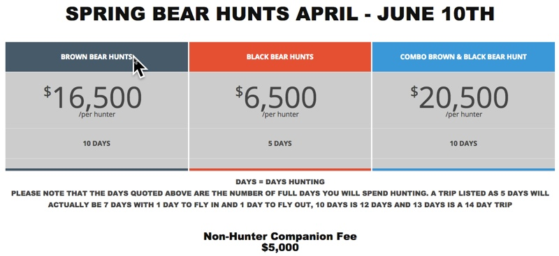 barela spring hunt prices